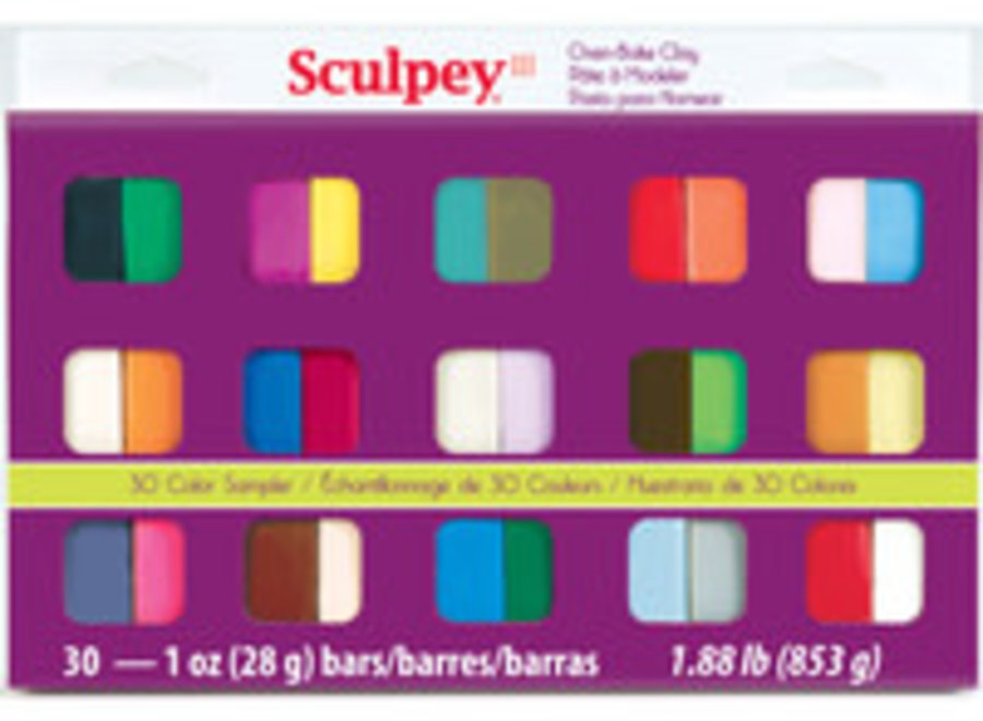SCULPEY 30 COLOR 1OZ SET