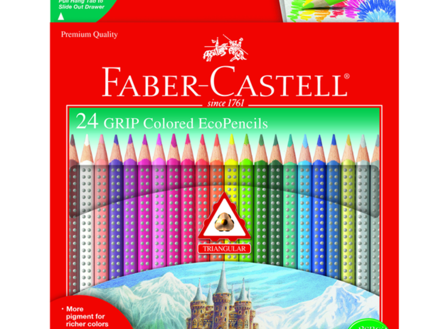 GRIP COLORED ECO-PENCILS SET - 24 PENCILS