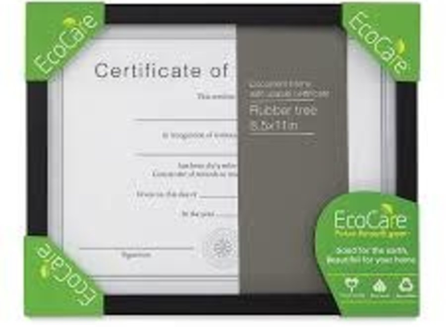 ECOCARE RUBBER TREE DOCUMENT BLACK FRAME