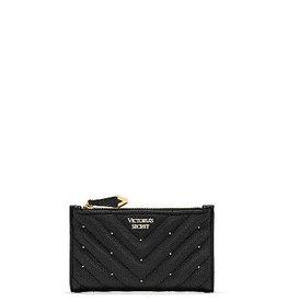 Victoria's Secret Victoria's Secret Wallet Studded V-Quilt Small Slim Bifold