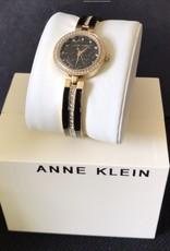 Anne Klein Anne Klein Watch w/ Diamond Accent Two-Tone Bangle Bracelet