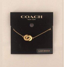 Coach Coach Bracelet Slider Gold Plated