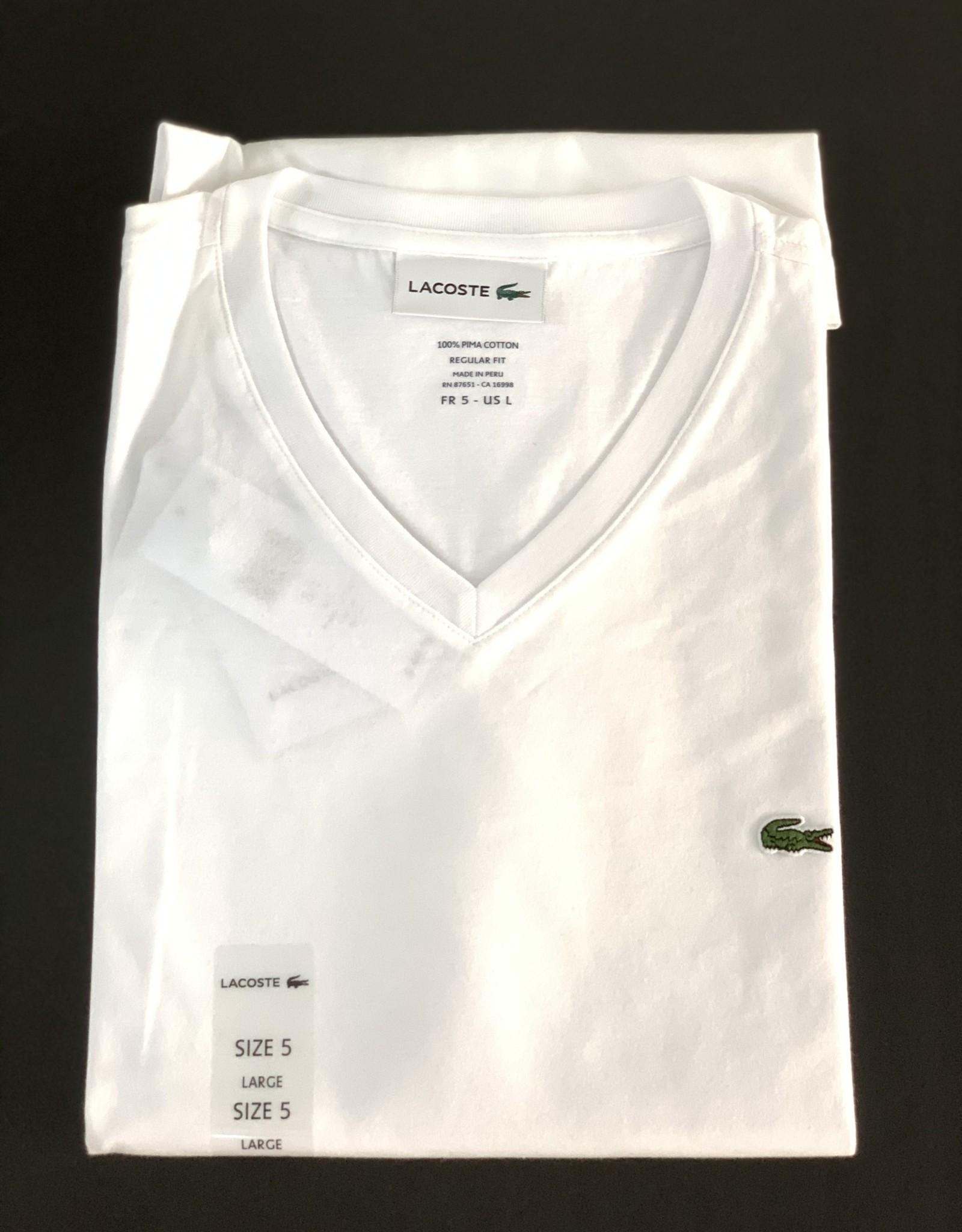 Lacoste Lacoste T-Shirt Regular Fit 100% Pima Cotton V-Neck