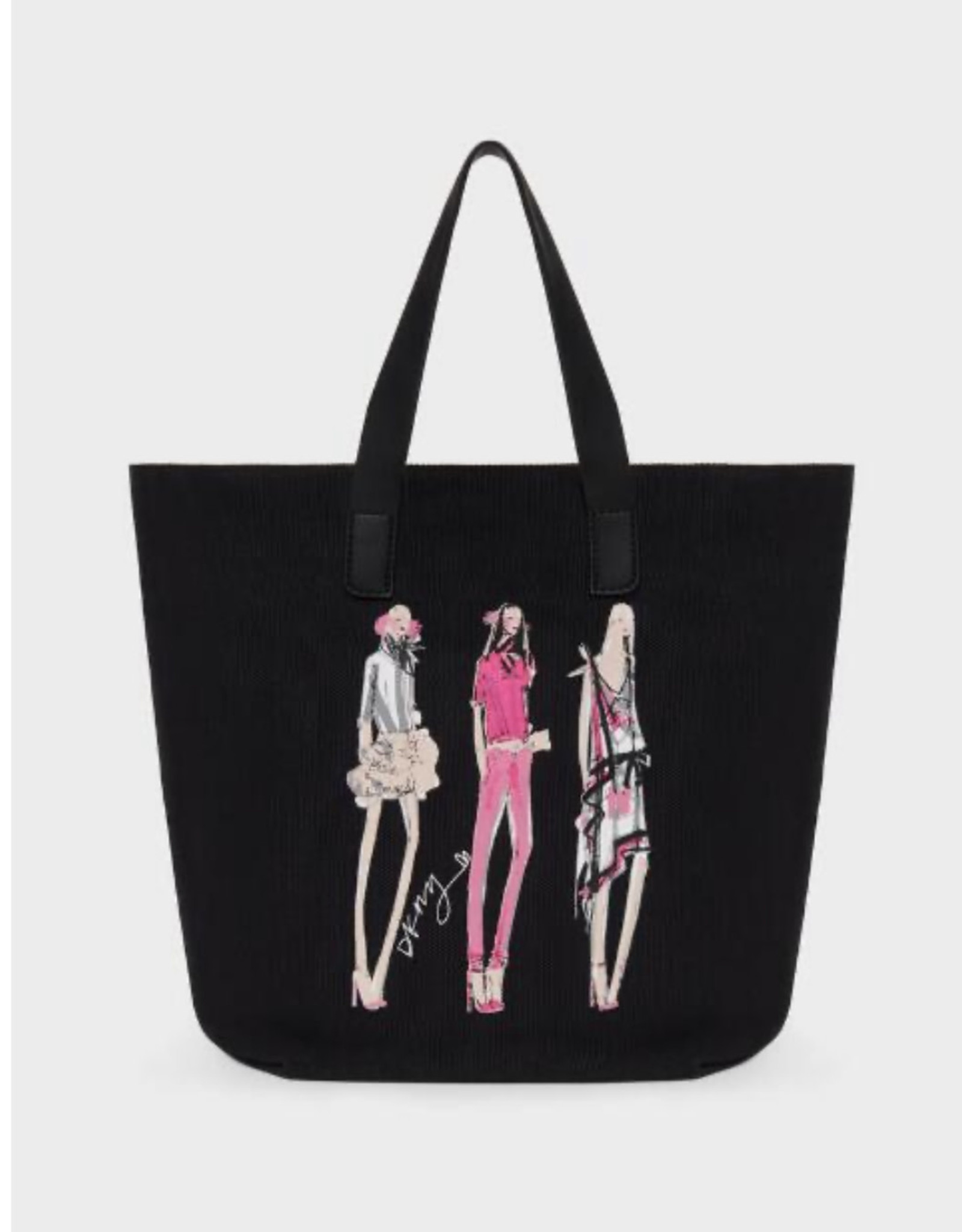 DKNY DKNY Tote Corrie Sketch Girl w/ Leather Pouch