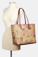 Coach Coach Tote City Reversible In Signature Canvas with Prairie Rose Print