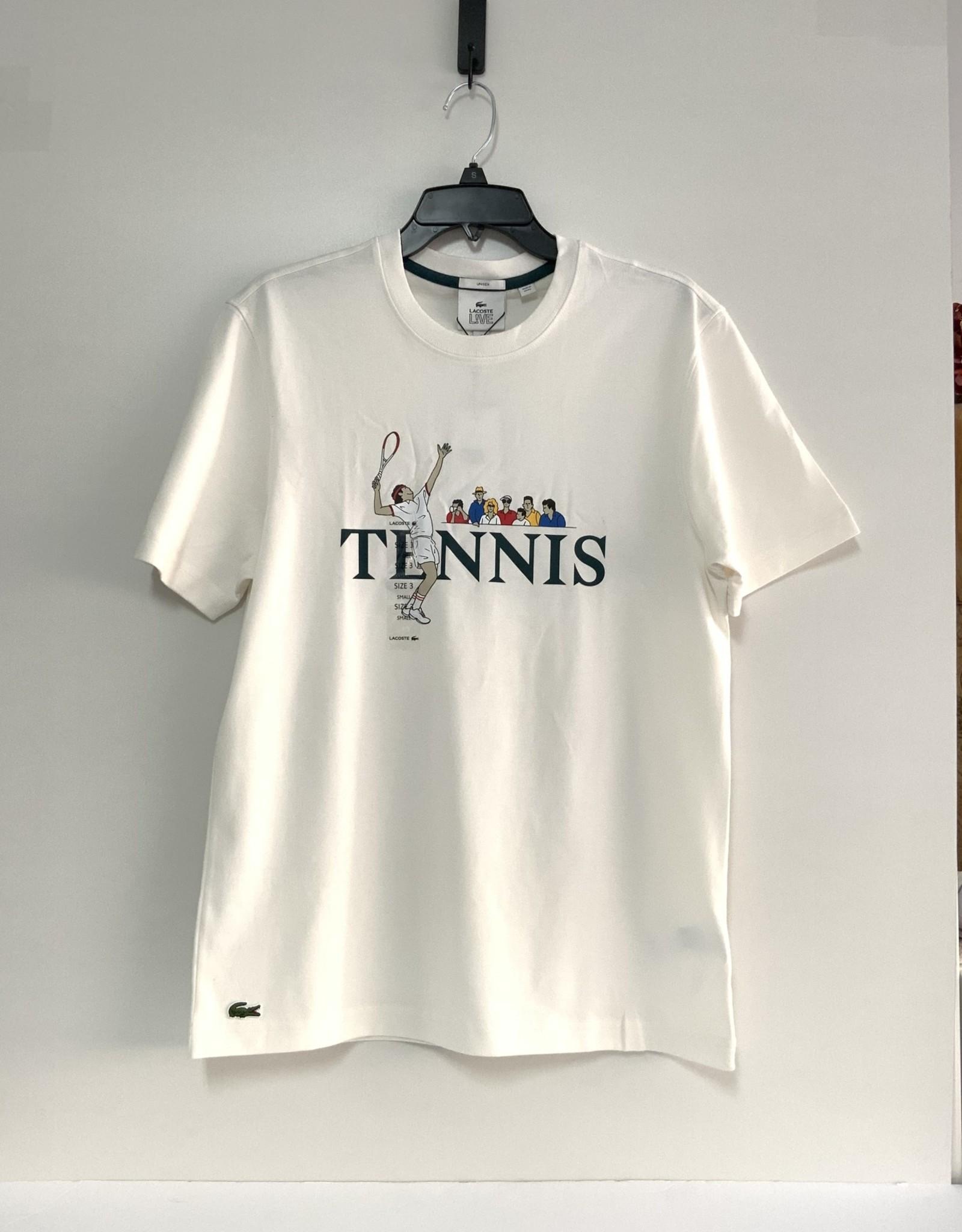 Lacoste Lacoste Live Tee Unisex Tennis 100% Cotton