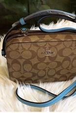 Coach Coach Mini Camera Bag in Signature Canvas