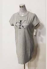 Calvin Klein Calvin Klein Shirt Dress Foil NY CK Logo Crew Neck