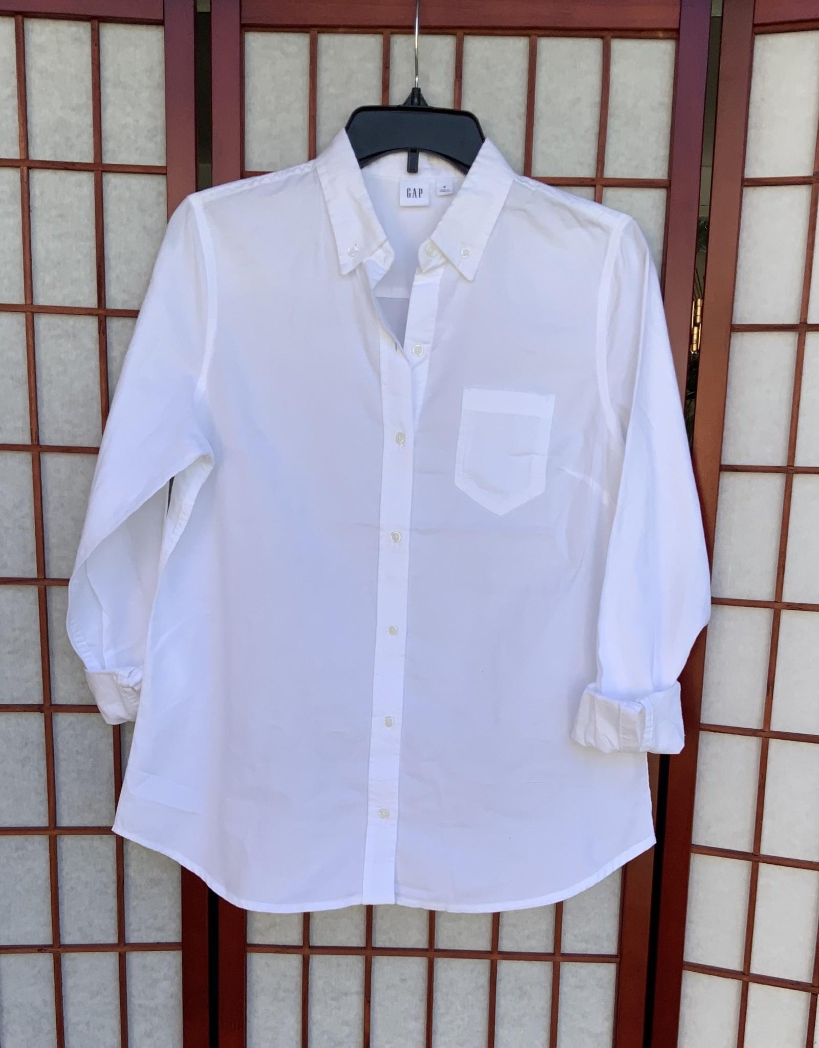 Gap Gap Fitted Boyfriend Long Sleeve Shirt