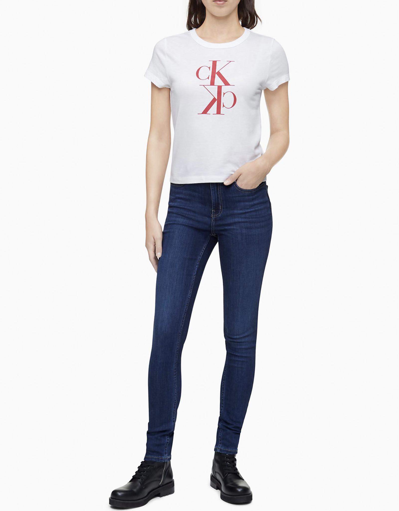 Calvin Klein Calvin Klein Tee Crewneck Mirror Monogram Logo