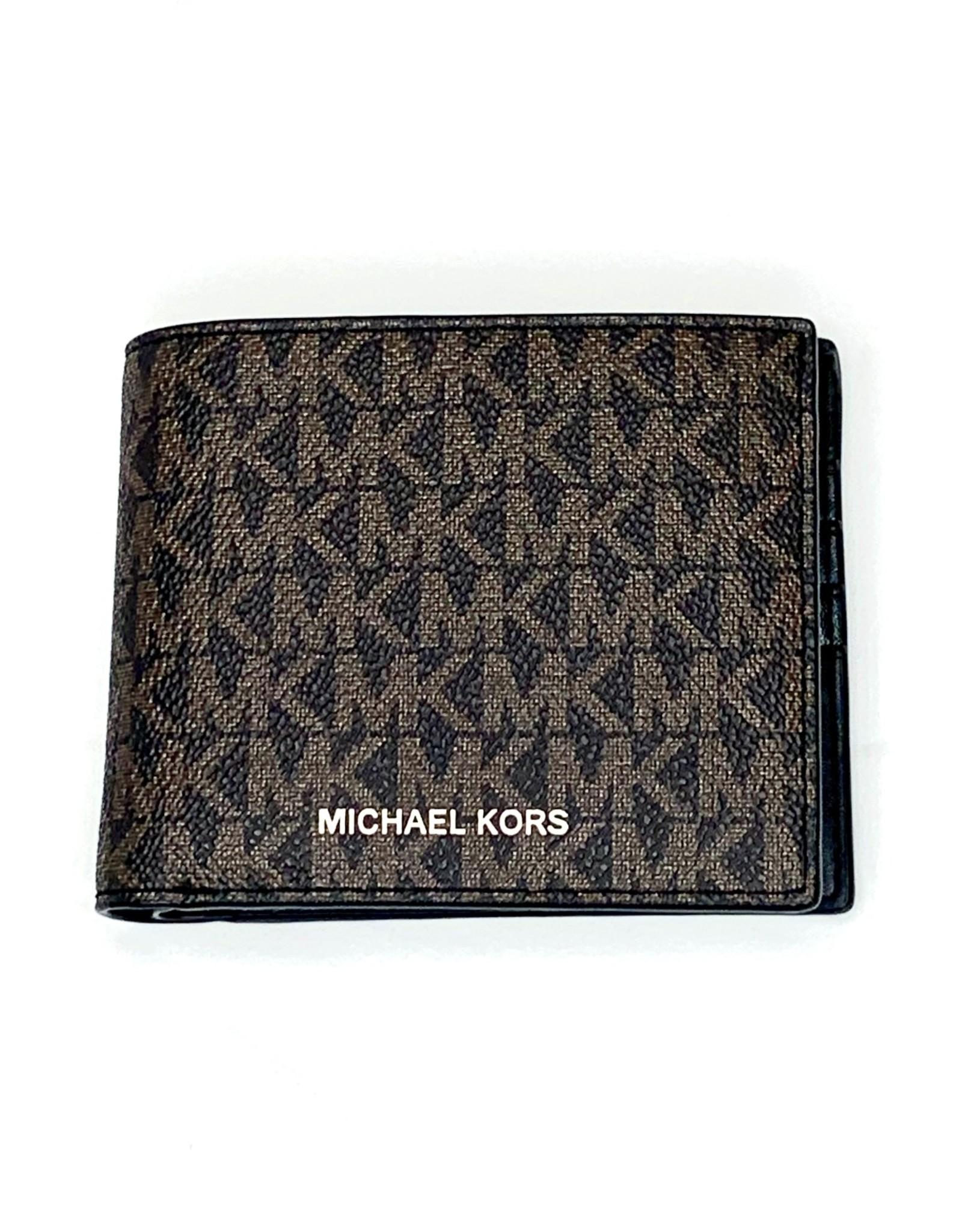 Michael Kors Michael Kors Billfold w/ Passcase Mini MK Logo PVC Cooper