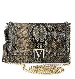 Victoria's Secret Victoria's Secret Crossbody Python Small w/ Gold Chain Strap