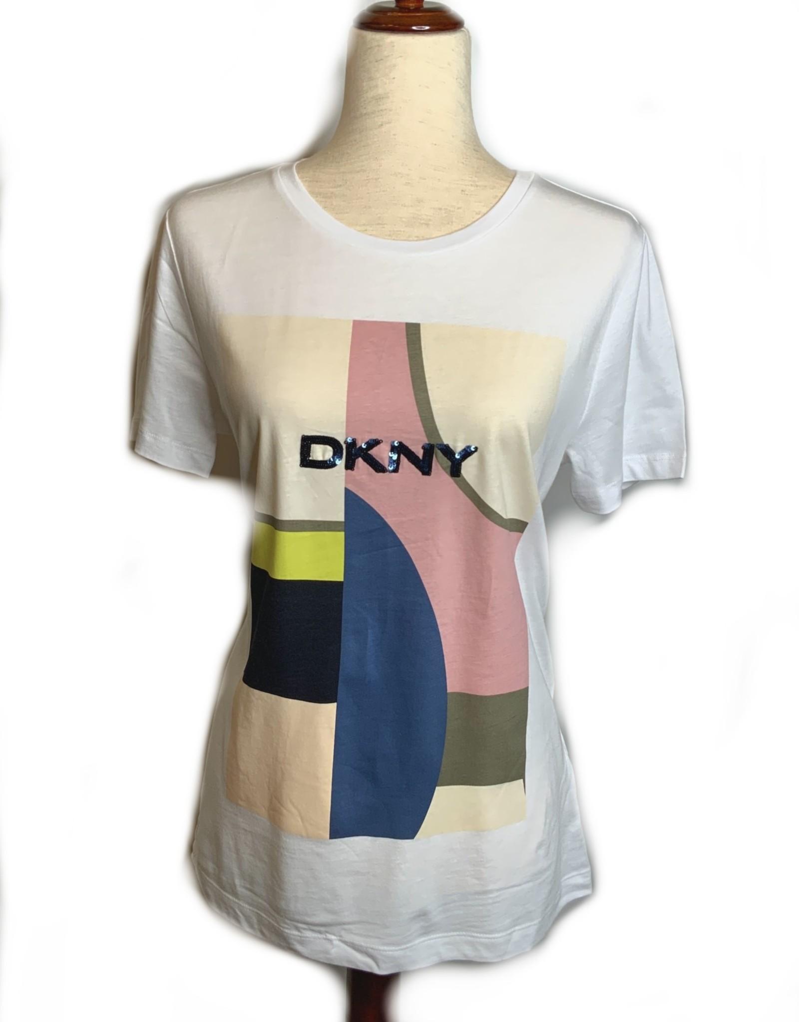 DKNY DKNY Tees Sequined Printed Logo