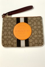 Coach Coach Dempsey Gallery Pouch Sig Jacquard with Stripe & Coach Patch