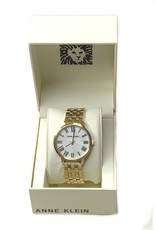 Anne Klein AK Watch Yellow Gold Tone Mother of Pearl Dial