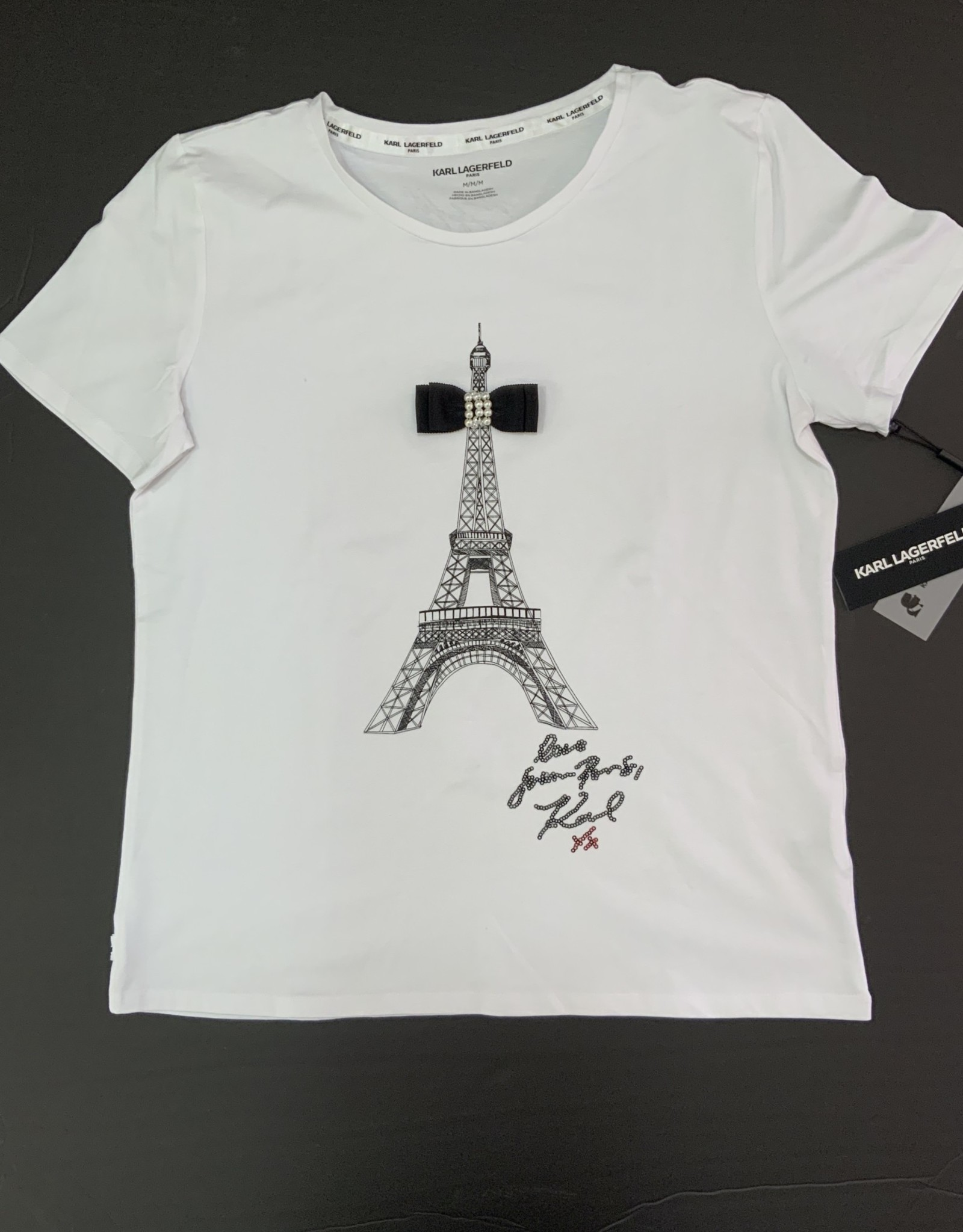 Karl Lagerfeld Karl Lagerfeld Tee Eiffel Tower Bow Tie