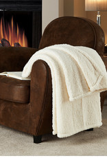 """Fireside Fireside Sherpa Throw 50"""" x 60"""" Polyester Machine Washable Soft Sherpa Material"""