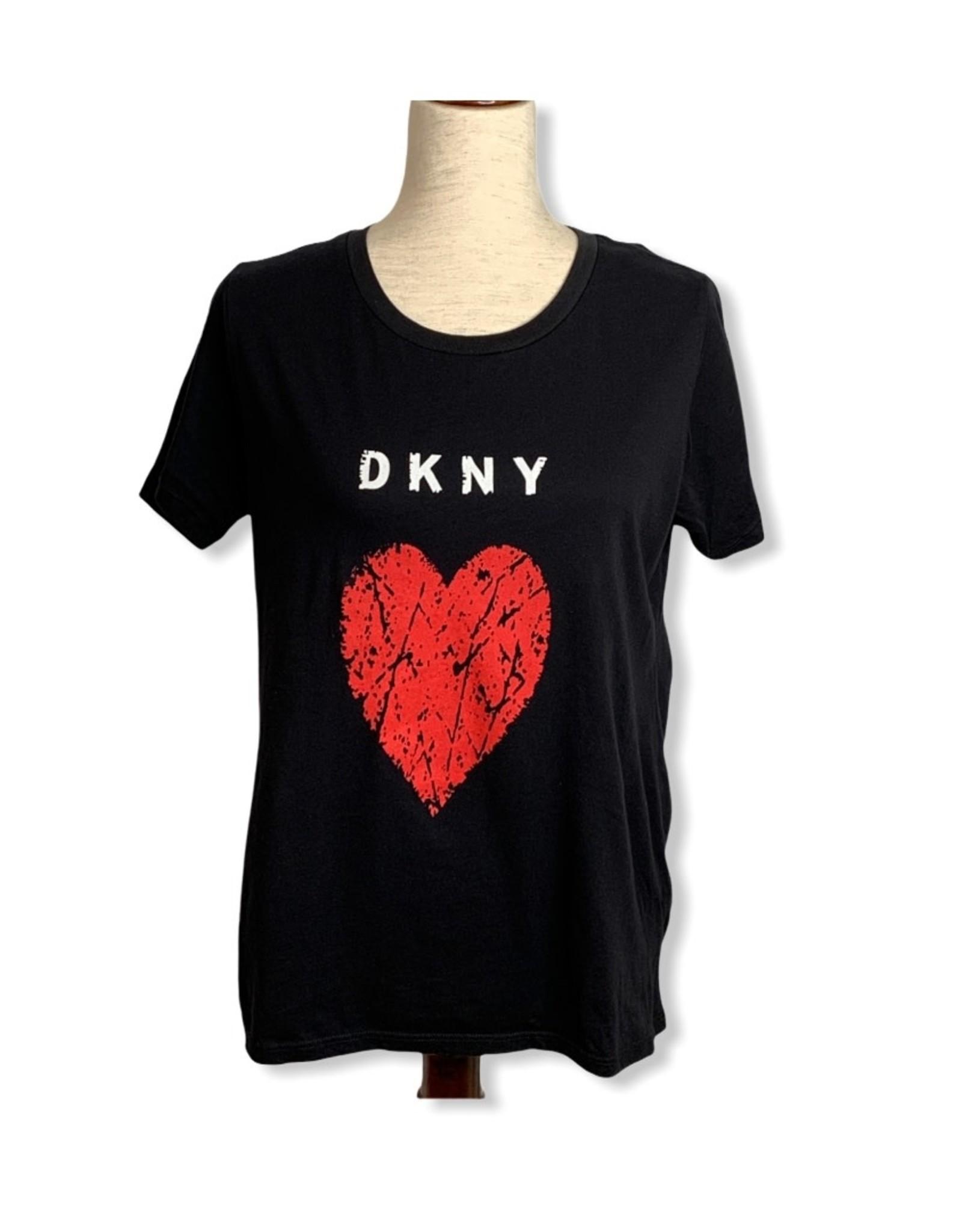 DKNY DKNY  Crackle Heart Logo Tee