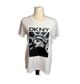 DKNY DKNY Matte Logo Glitter Lady Liberty T-Shirt