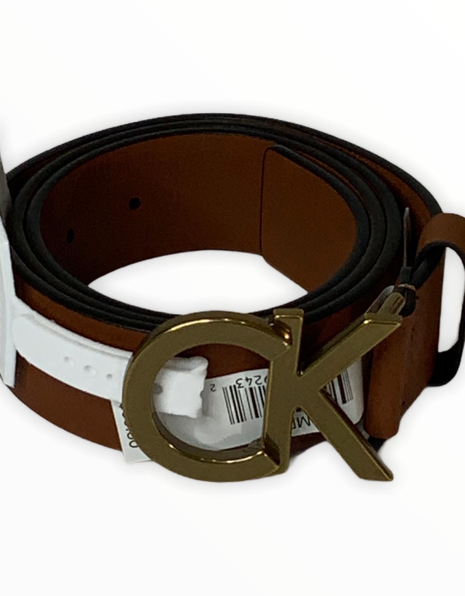 Calvin Klein Calvin Klein Denim Logo Plaque Belt