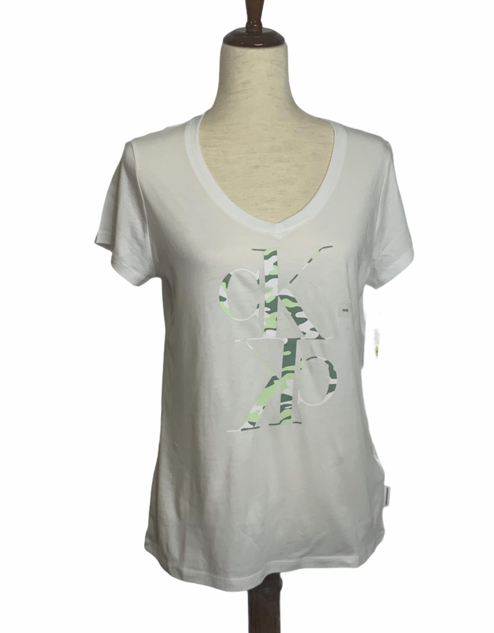 Calvin Klein Calvin Klein Camou Logo V-Neck T-shirt