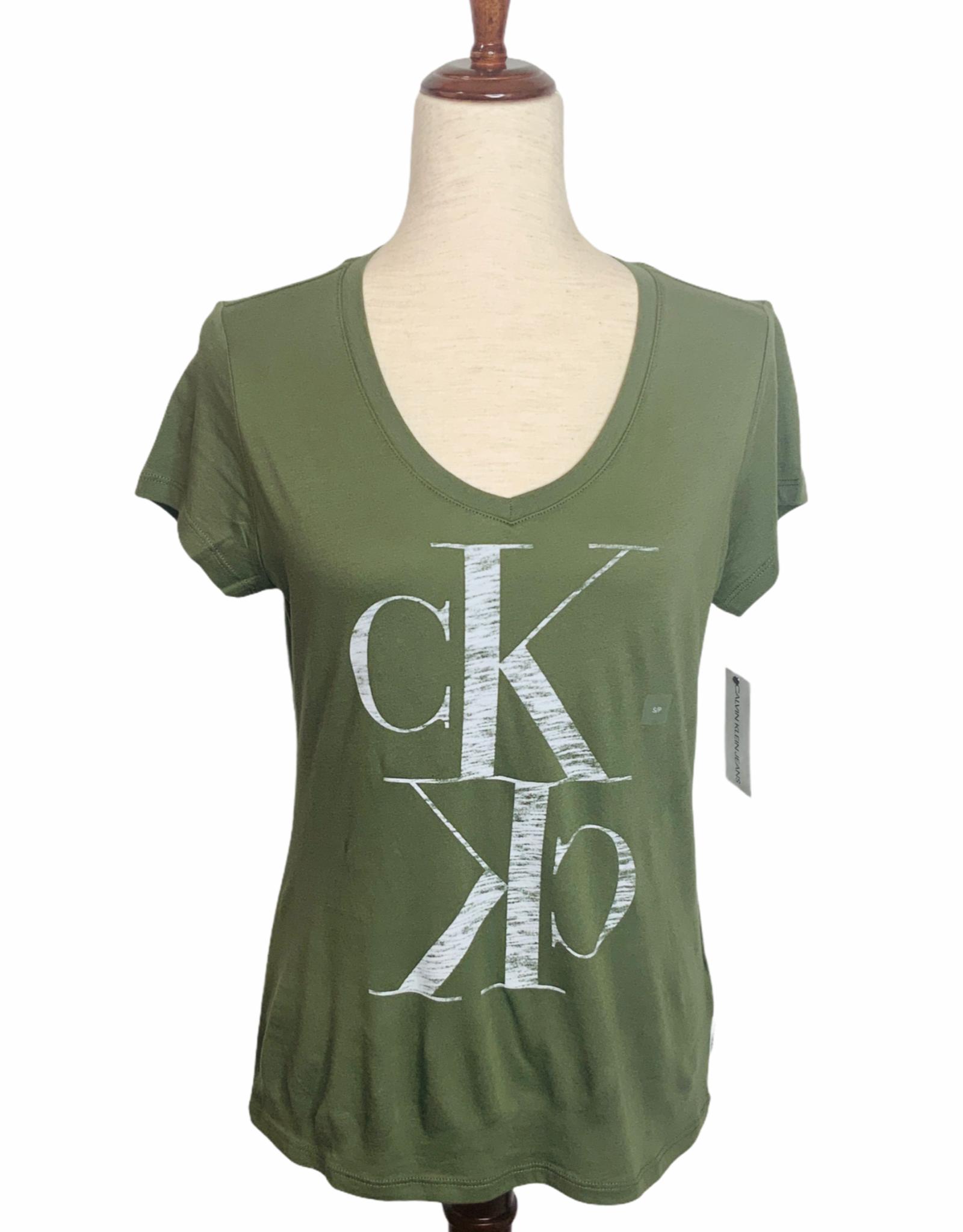 Calvin Klein Calvin Klein Bonsai Logo V-Neck T-shirt