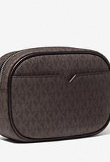 Michael Kors Michael Kors Jet Set Travel Small Logo Stripe Crossbody Bag