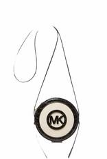 Michael Kors Michael Kors AIDY Small Croc Embossed Logo Canteen Crossbody Purse Bag