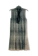 DKNY DKNY Dress Tie Neck Pleated Shift