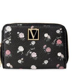 Victoria's Secret Victoria's Secret V Monogram Hardware Zip Around Small Card Cash Wallet