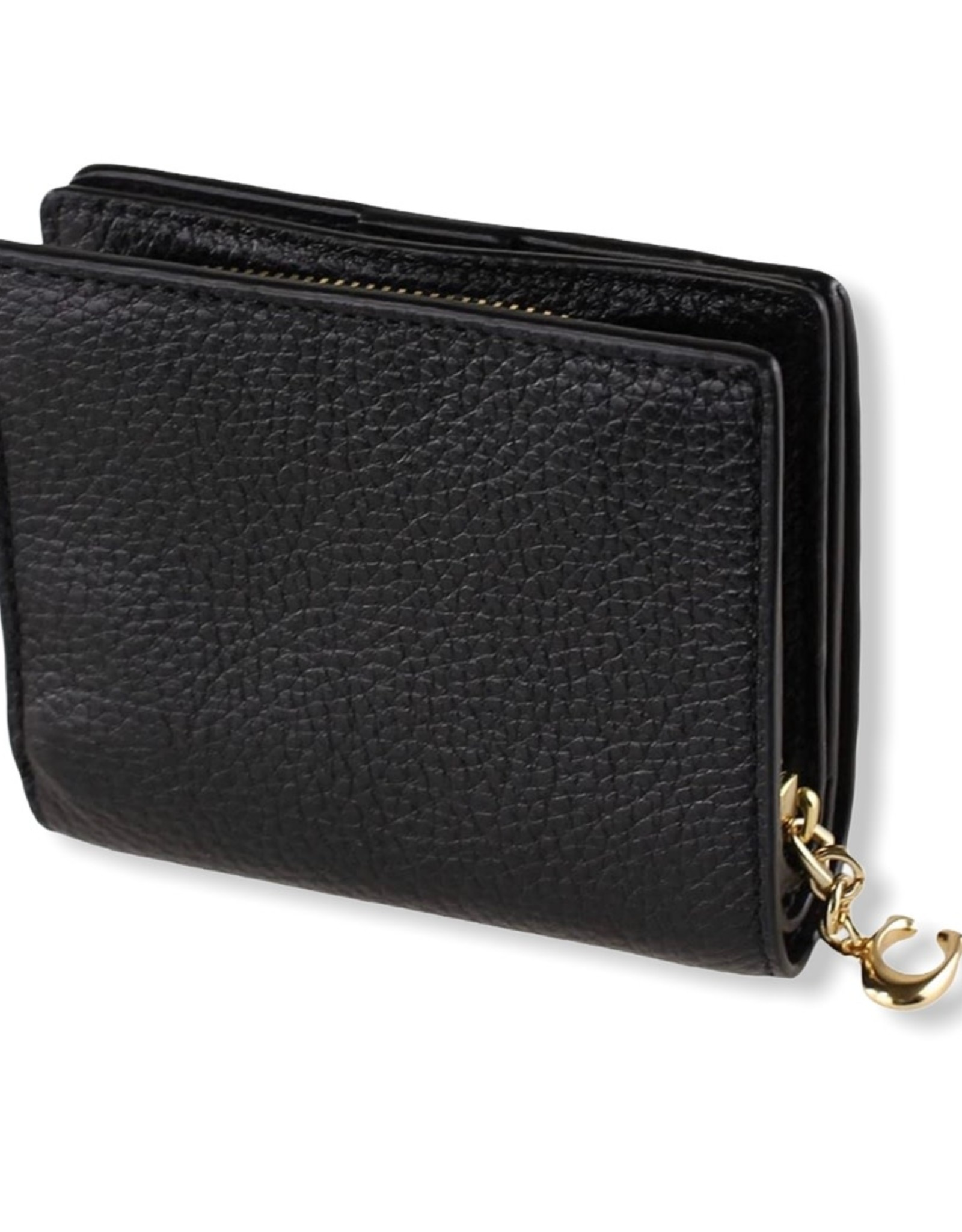 Coach Coach Leather Snap Wallet 3-credit Card Slots ID Windos