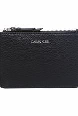 Calvin Klein Calvin Klein Pebble Leather L-Zip Card Case