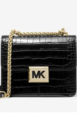 Michael Kors Michael Kors Sonia Small Crocodile Embossed Faux Leather Shoulder Bag