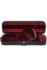 Étui Violon Rectangulaire E. (Hill Style) Extérieur noir, Intérieur rouge