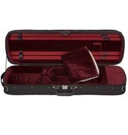 Étui Violon Rectangulaire Eastman (Hill Style) Extérieur noir, Intérieur rouge