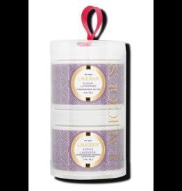 LALICIOUS Sugar Lavender Tower - Sugar Scrub + Body Butter (2 x 2 oz)