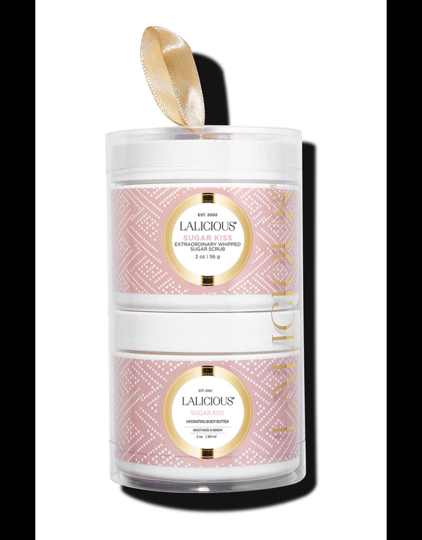 LALICIOUS Sugar Kiss Tower - Sugar Scrub + Body Butter (2 x 2 oz)