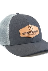 Defender Outdoors Leather Patch Trucker Hat