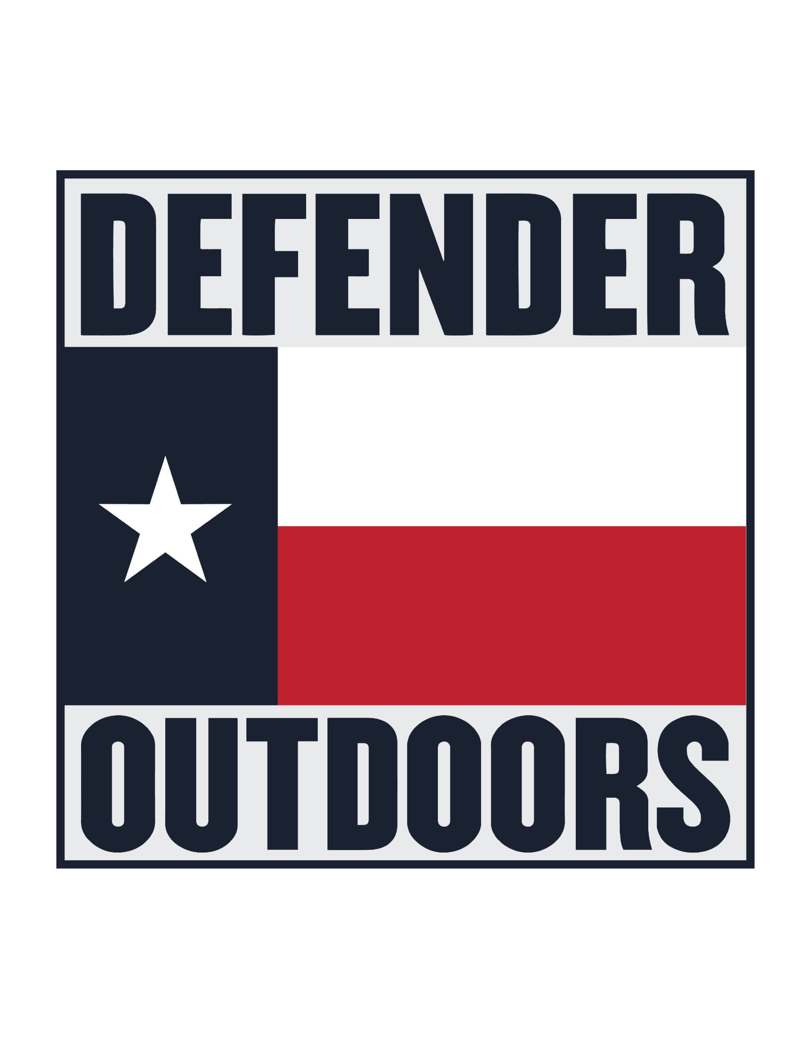 Defender Outdoors Texas Flag Tactical Patch