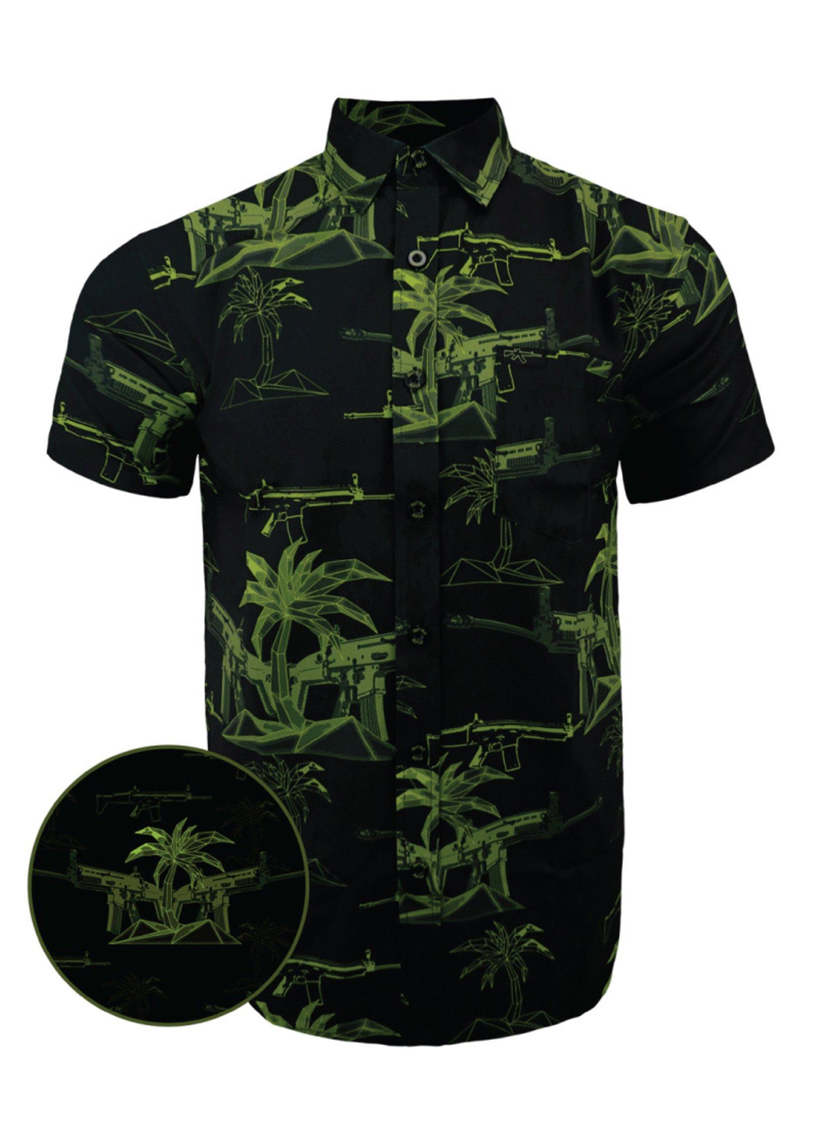 Retro Rifle The Palm Hawaiian Shirt