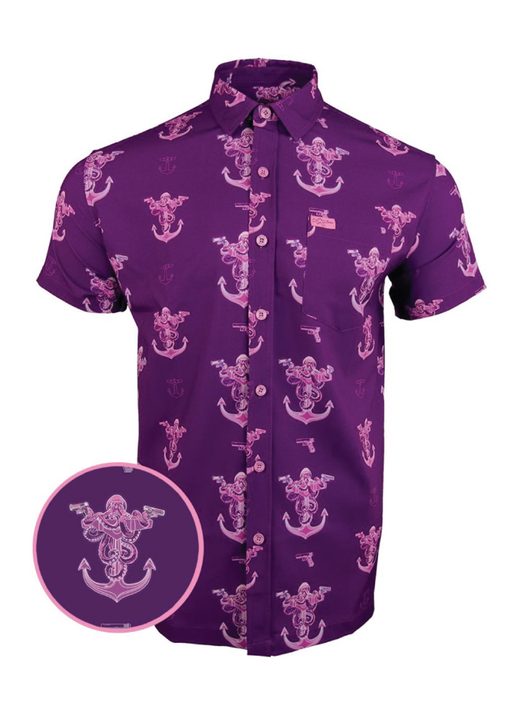 Retro Rifle Glocktopus Hawaiian Shirt