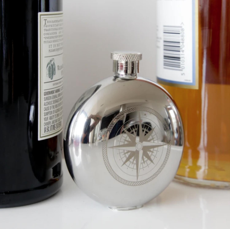 Kikkerland Compass Flask Back 40 Mercantile