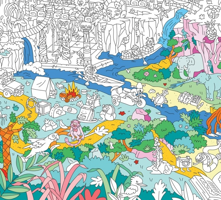 OMY Jungle Coloring Poster - Back 40 Mercantile