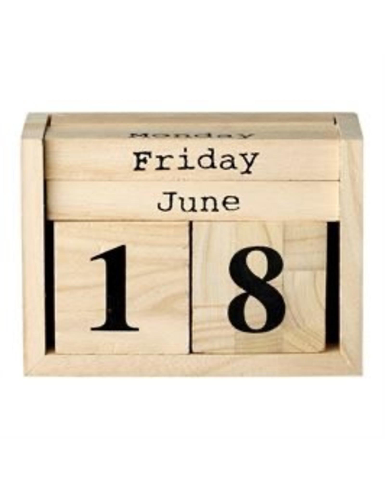 Bloomingville Wood-Perpetual-Calendar