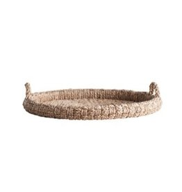 """Creative Co-op 29"""" Round Braided Tray w/Handles"""