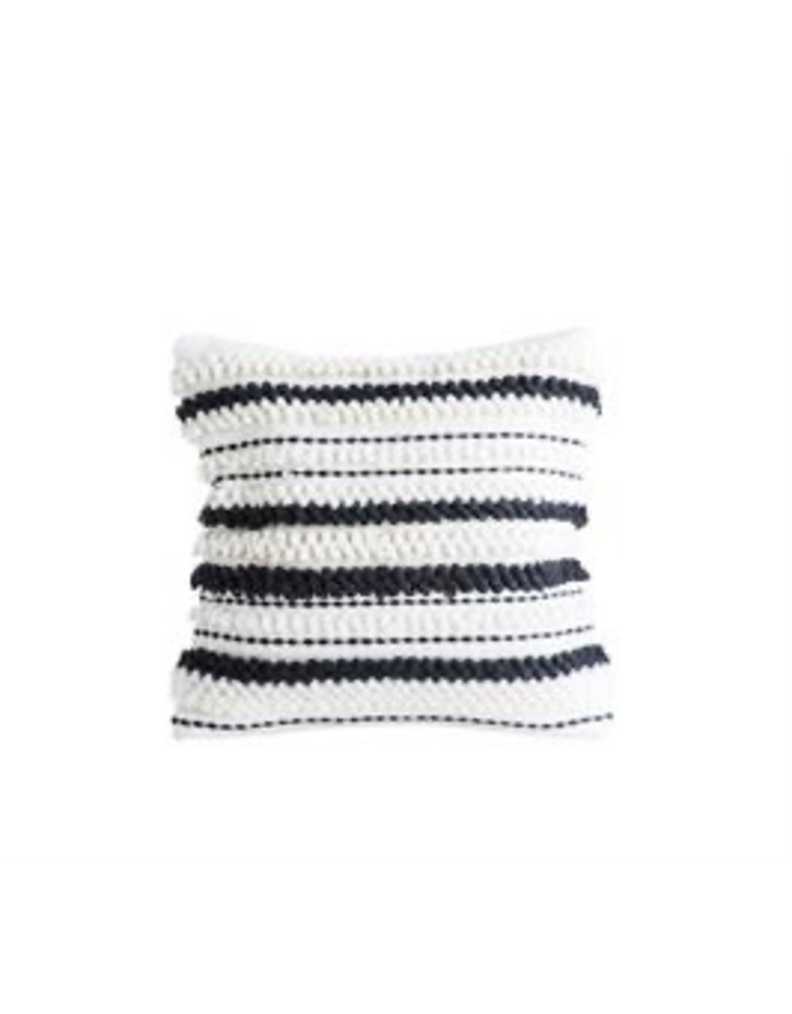 "Bloomingville 18"" B&W Stripped Pillow"