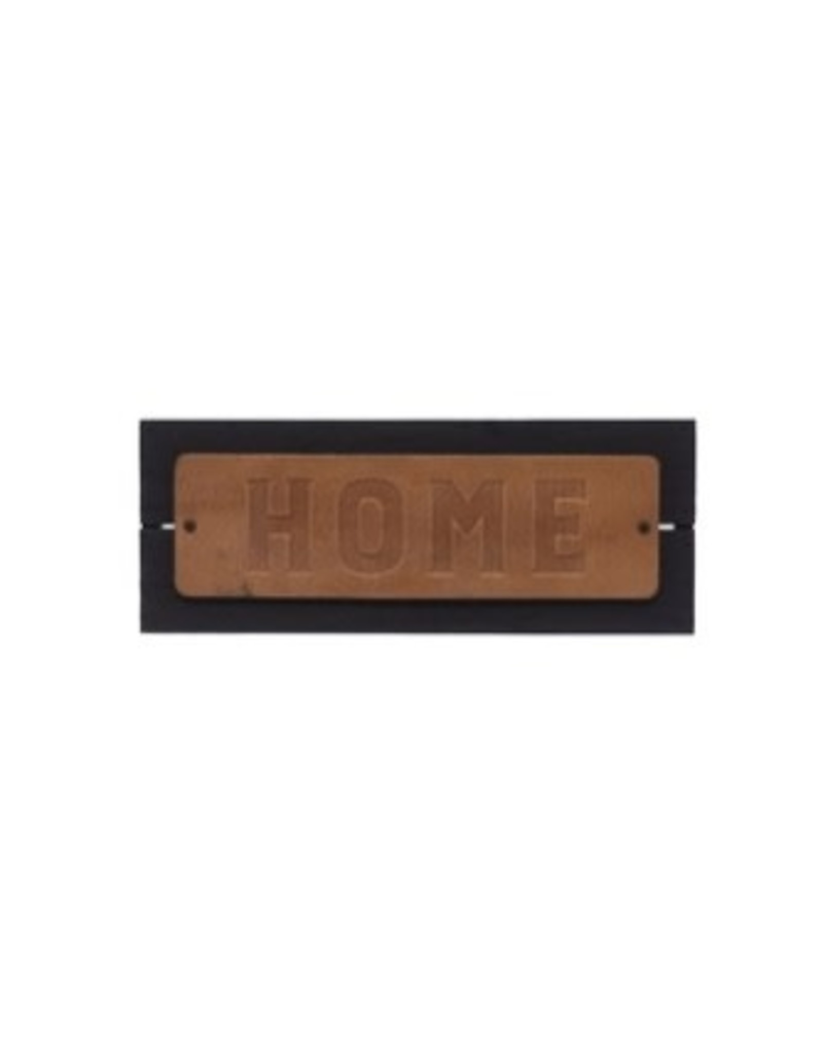 """Creative Co-op 11 3/4""""L Wood & Leather Sign, """"HOME"""""""