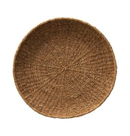 """Creative Co-op 21 1/2"""" Round Seagrass Basket/Tray"""