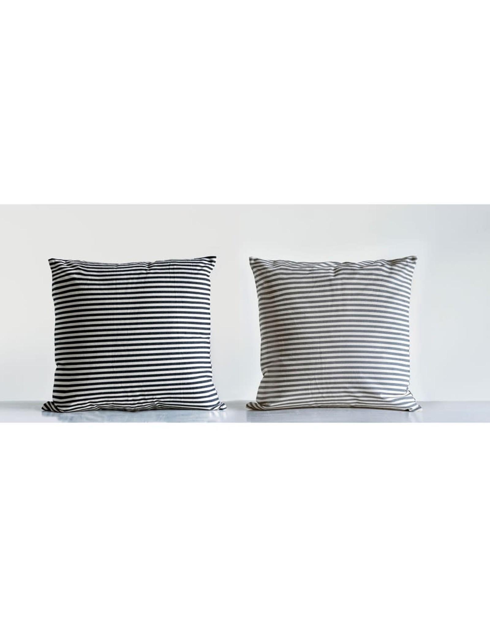 "Creative Co-op 24"" B&W Striped Pillow"