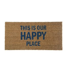 "Bloomingville 31 1/2"" L This Is Our Happy Place - Coir Door mat"
